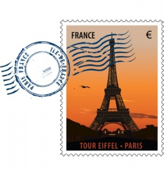 postmark stamp France vector image vector image