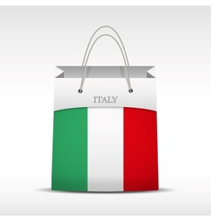 Shopping bag with Italy flag vector image