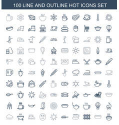100 hot icons vector