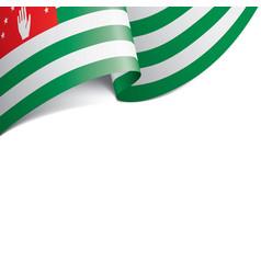 abkhazia flag on a white vector image