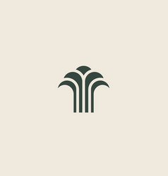 Abstract linear tree fountain building vector