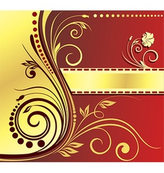 Abstract Royal Floral Design vector image
