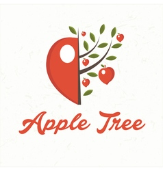 apple tree with apple fruit vector image