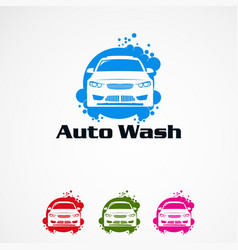 Auto wash logo designs concept icon element and vector