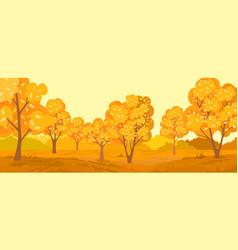 Autumn rural landscape autumn forest vector