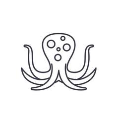 big octopus line icon concept big octopus vector image