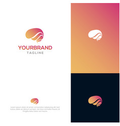 brain logo template vector image