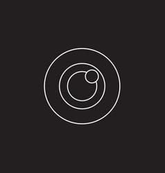 Bulls eye icon target solid logo vector