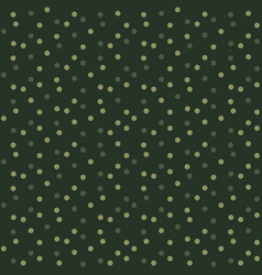 Camouflage dots background green seamless pattern vector