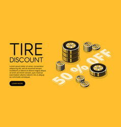 car service tire store discount vector image