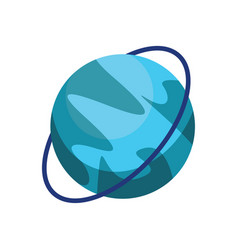 Cartoon planet uranus on white background vector