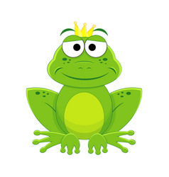 Cartoon prince frog isolated vector