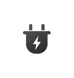 charger wall plug and lightning charging icon vector image