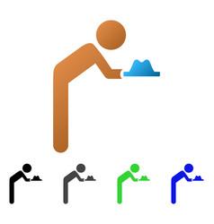 Child servant flat gradient icon vector
