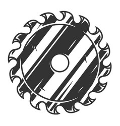Circular saw blade vintage concept vector