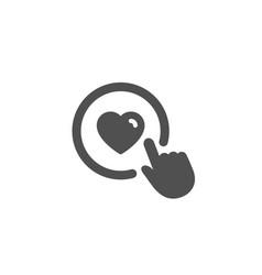 Click like simple icon love symbol vector