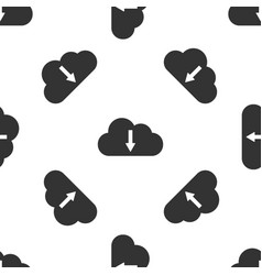 cloud download icon isolated seamless pattern on vector image