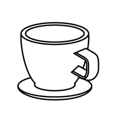 Coffee cup isometric icon vector