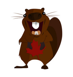 Concept on the day of canada holiday beaver vector