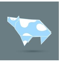 Cow origami vector