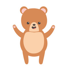 Cute brown bear character cartoon vector