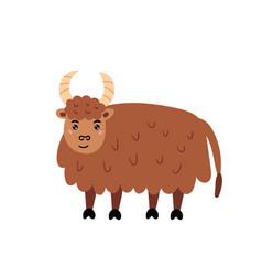 Cute yak vector