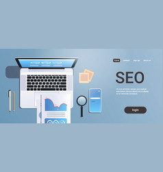 digital marketing search engine optimization seo vector image