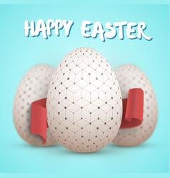 easter egg set happy easter painted egg vector image
