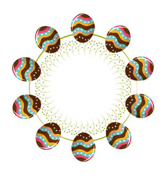 Eggs easter togethers with a rope in form of vector