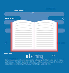 Electronic learning with ebook vector