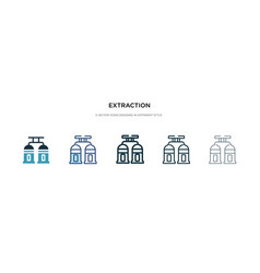 Extraction icon in different style two colored vector