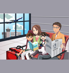 Family vacation vector