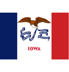 Flag of the usa state of iowa vector