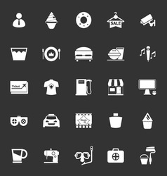 Franchisee business icons on gray background vector image