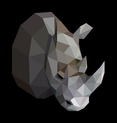 geometric colored rhinoceros vector image