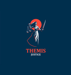 goddess of justice themis vector image