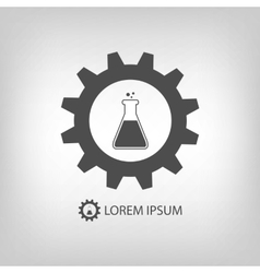 Grey chemical industry logo vector