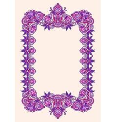 Hand draw ornate floral vintage frame vector
