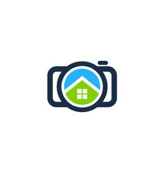 House camera logo icon design vector