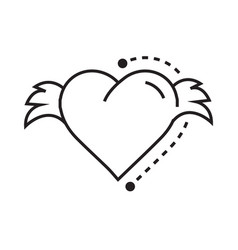 icon hearts wings vector image