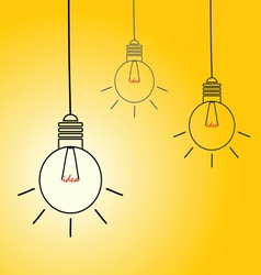 Idea light buble on yellow vector