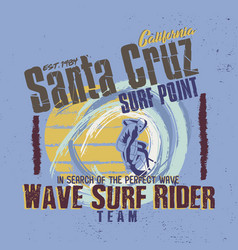 in search perfect wave santa cruz vector image