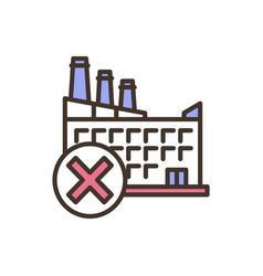 Industrial facility failure rgb color icon vector