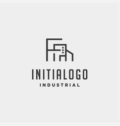 Initial letter f real estate logo design vector