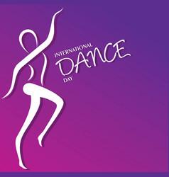 international dance day greeting vector image