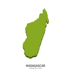 Isometric map of Madagascar detailed vector