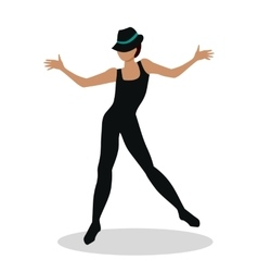 Jazz Dancer Tap Dance Jitterbug Swing Lindy Hop vector