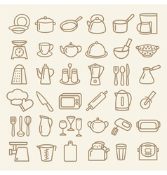 Kitchenware lline vector image