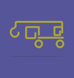 Linear crane truck icon vector image