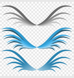 Logo of the wings three options for your choice vector